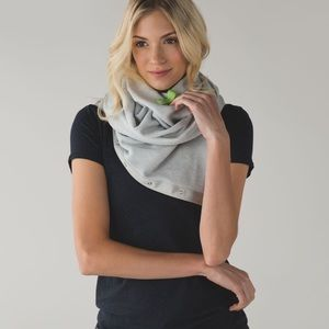 RARE! Lululemon Vinyasa Scarf French Terry Grey